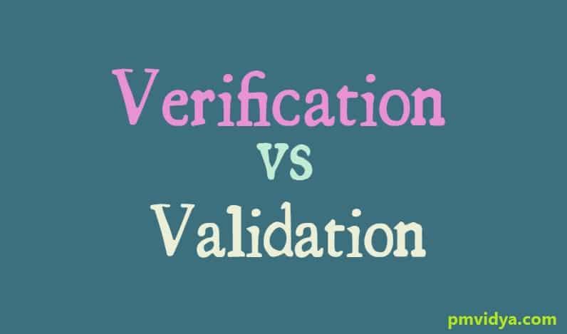 Verification and Validation - PM Vidya