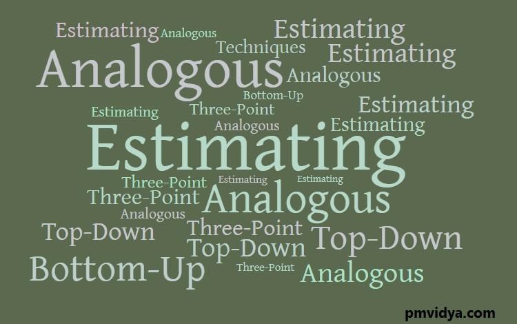 estimating techniques comparision
