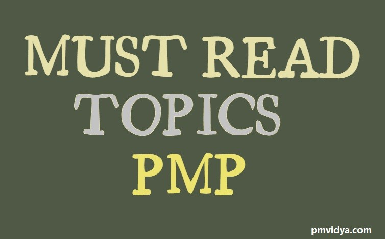 PMP Must read topics